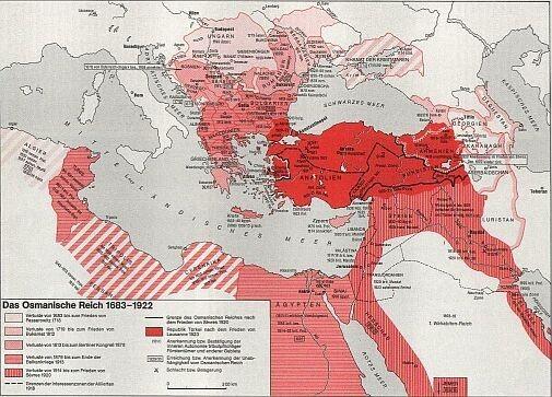 Osmanisches Reich Karte 1914.Uwe Becker Provinzen I